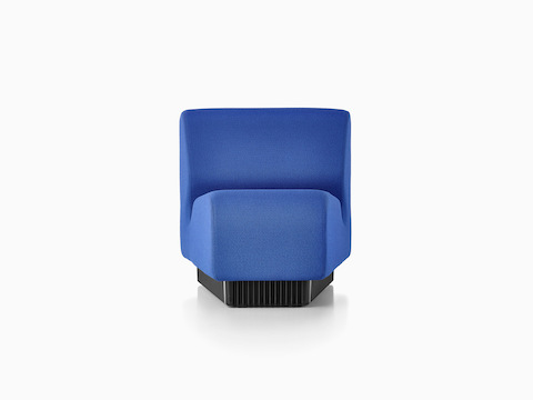 A blue Chadwick Modular Seating inside wedge, viewed from the front.
