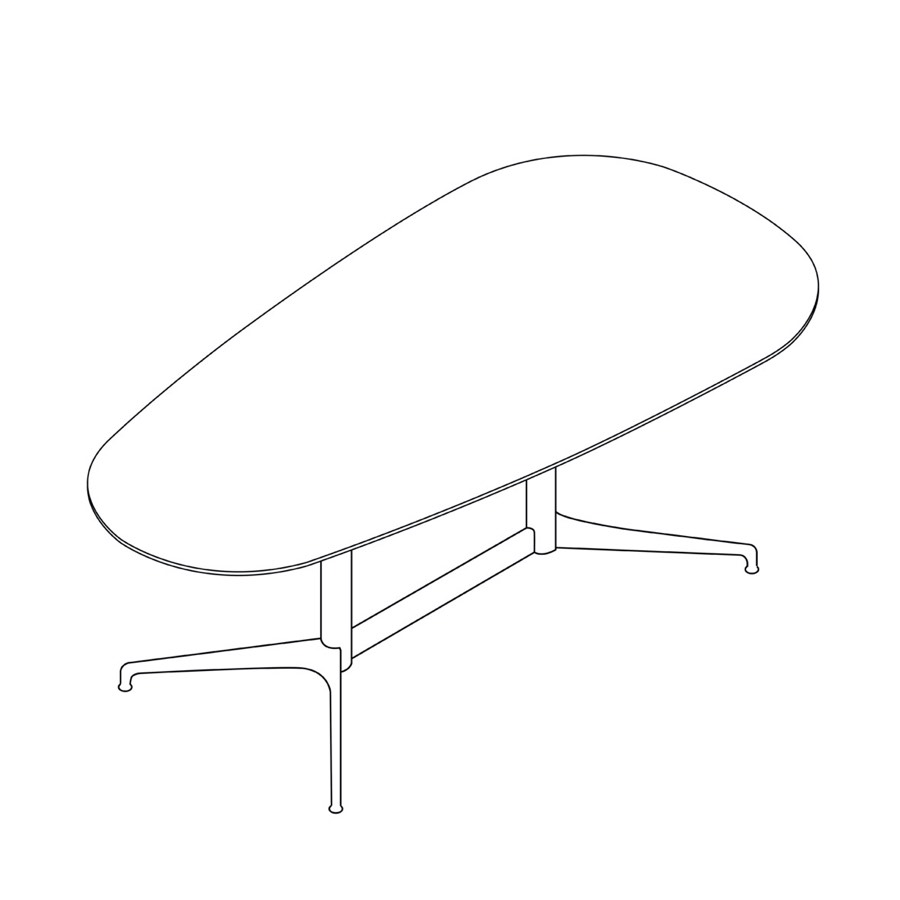 A line drawing of a trapezoidal Civic Table.