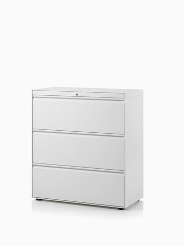 CK8 three-high lateral filing cabinet.