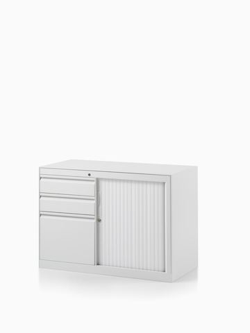 CK8 left-hand return cabinet with shutter door compartment.