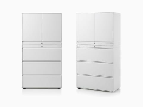 Two CK8 hinge door stacks on lateral filing cabinet.