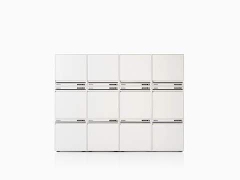CKL staff locker w4 x h3 stack-on modular in white.