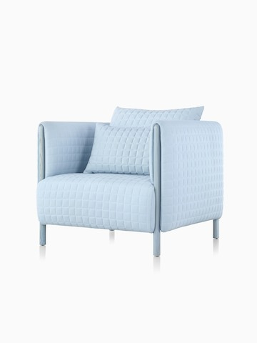 A light blue ColourForm lounge chair, viewed from a 45-degree angle.
