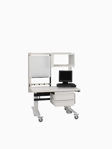 A mobile technology and supply cart from the Co/Struc System.