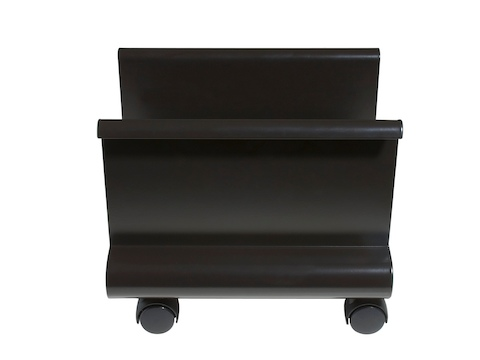 A black Mobile CPU Holder on casters.