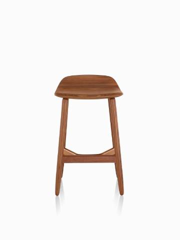Counter-height Crosshatch Stool with a medium wood finish, viewed from the front.