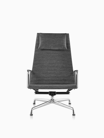 Gray Eames Aluminum Group Chair.