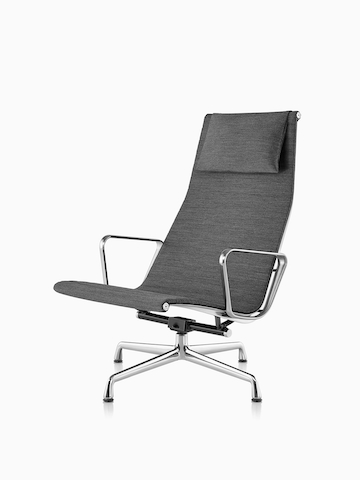 Gray Eames Aluminum Group Chair. Select to go to the Eames Aluminum Group Chairs product page.