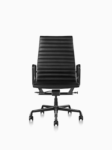Black Eames Aluminum Group Chair.