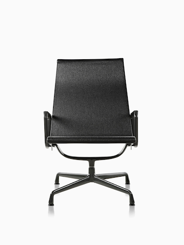 Black Eames Aluminum Group outdoor chair.
