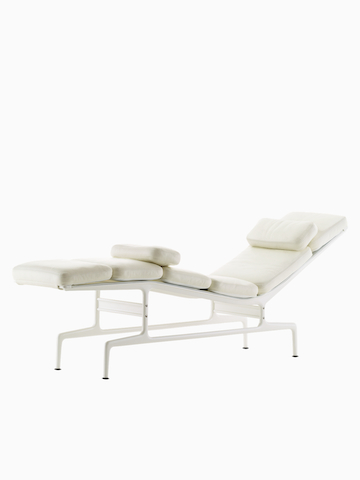White Eames Chaise.