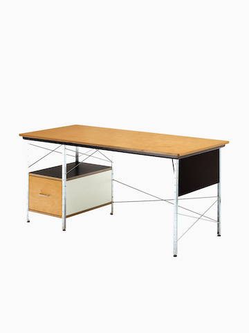 A mid-century modern Eames Desk. Select to go to the Eames Desks and Storage Units product page.