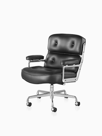 Black Eames Executive Chair. Select to go to the Eames Executive Chairs product page.