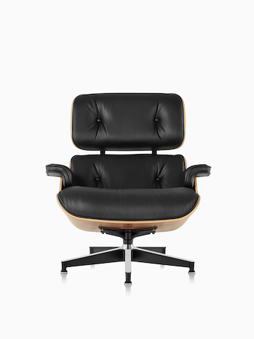 Black Eames Lounge Chair.