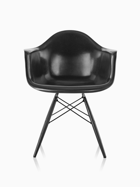 Mid-century Modernism Post-1950 Adaptable Rare Vintage Herman Miller Upholstered Fiberglass Shell Arm Chair Lounge Eames