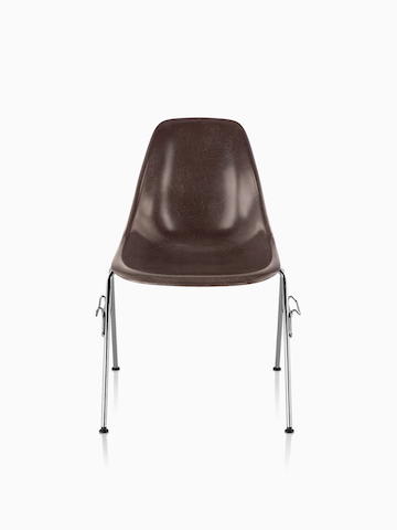 Brown Eames Molded Fiberglass Chair.