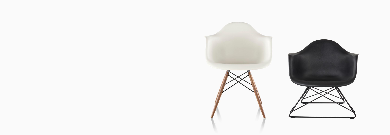 Mid-century Modernism Adaptable Rare Vintage Herman Miller Upholstered Fiberglass Shell Arm Chair Lounge Eames