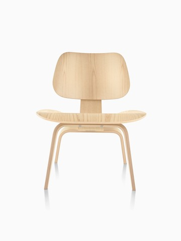 Eames Molded Plywood Chair In A Light Finish, Viewed From The Front.