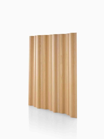 A plywood folding screen in a light wood finish. Select to go to the Eames Molded Plywood Folding Screen product page.