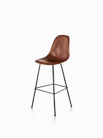 Eames Molded Wood Stool. Select to go to the Eames Molded Wood Stool product page.