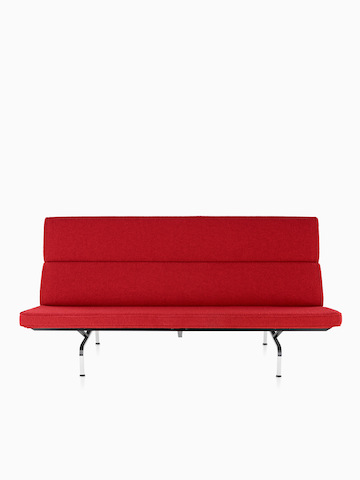 Red Eames Sofa Compact.