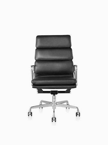 Black Eames Soft Pad Chair.