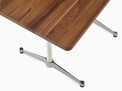 Close-up of the angular contract base option for Eames Tables.