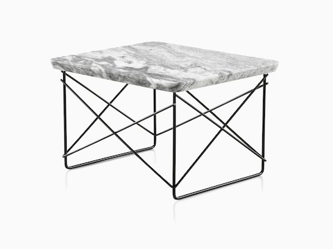 Eames wire base low table outdoor table herman miller an angled view of a rectangular eames wire base low outdoor table with a marble top keyboard keysfo Images