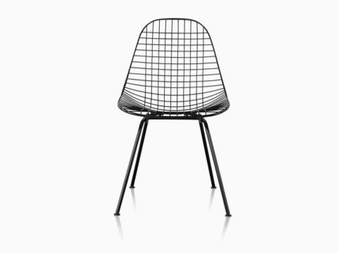 Eames Wire Chair Outdoor with black finish and wire base.