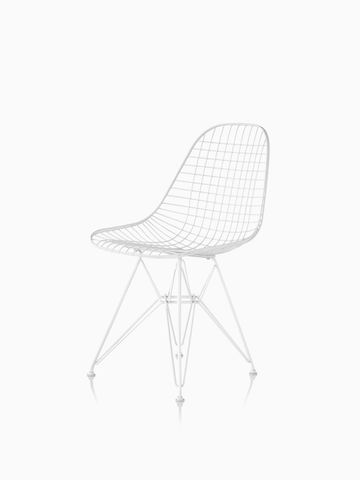 Eames Wire Chair Outdoor with white finish and wire base. Select to go to the Eames Wire Chairs Outdoor product page.