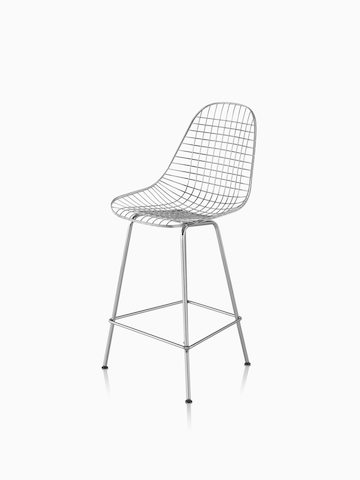 Silver Eames Wire Stool. Select to go to the Eames Wire Stool product page.