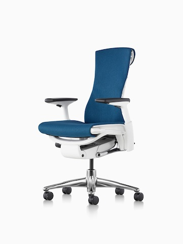 Blue Embody office chair. Select to go to the Embody Chairs product page.