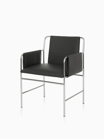Black Envelope Chair. Select to go to the Envelope Chair product page.