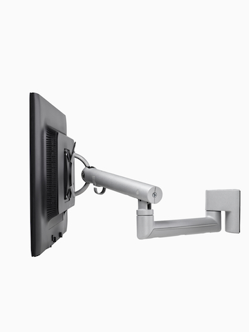 An adjustable Flo Monitor Arm designed for panel-mounted rail systems. Select to go to the Flo Rail Tile Mount product page.