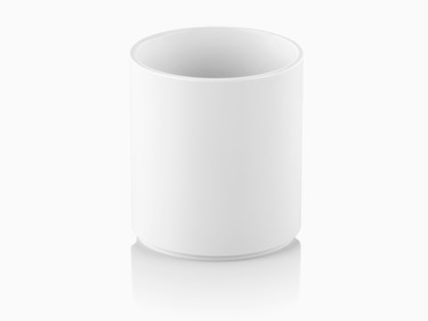 A white Formwork Round Pencil Cup.