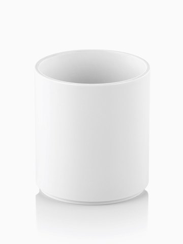 A white Formwork Round Pencil Cup. Select to go to the Formwork Round Pencil Cup product page.