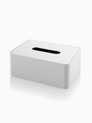 A white Formwork Tissue Box. Select to go to the Formwork Tissue Box product page.