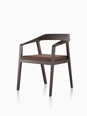 Dark wood Full Twist Guest Chair. Select to go to the Full Twist Guest Chair product page.