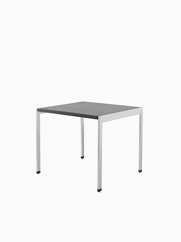A square H Frame Table with a black top. Select to go to the H Frame Tables product page.