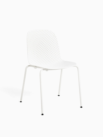 An all white 13eighty Chair with the hover image in black. Select to go to the 13Eighty Chair product page.