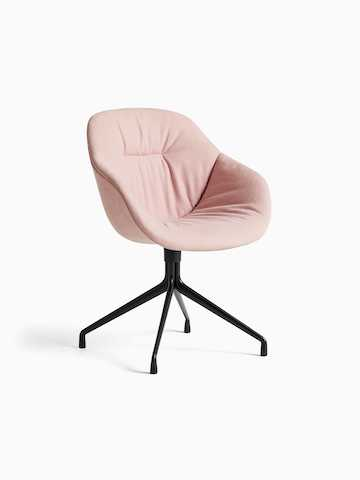 Black About A Chair with sled base, viewed at an angle.