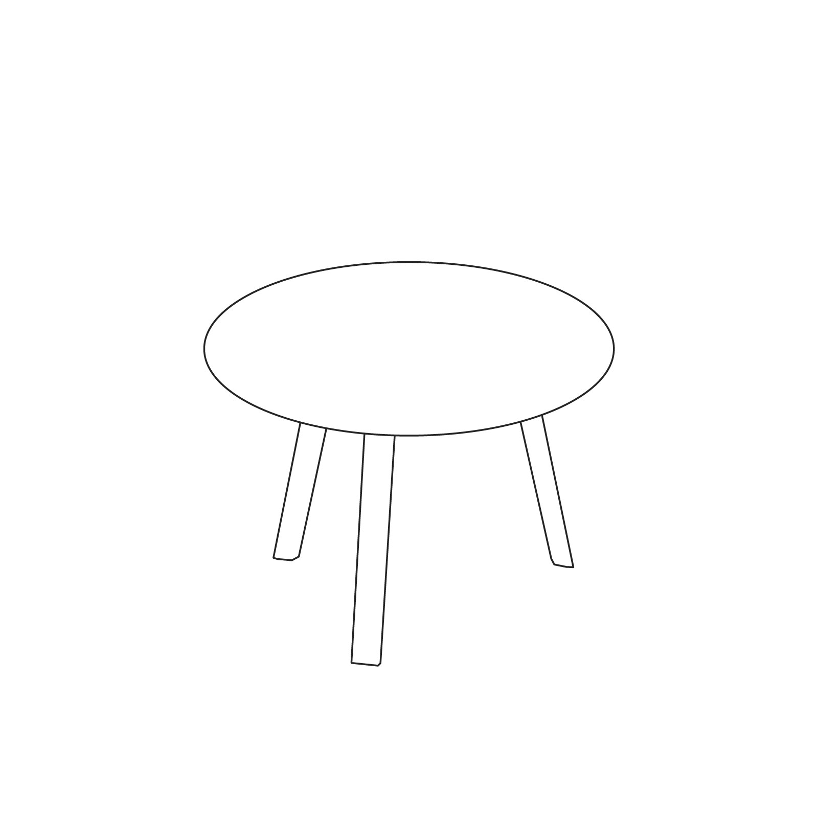 A line drawing of Bella Coffee Table–Low.
