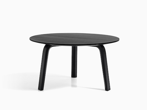 Black Bella Coffee Table, viewed from the front.