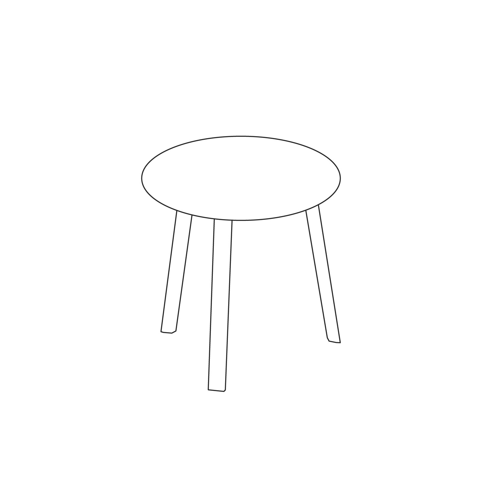 A line drawing of Bella Side Table–High.