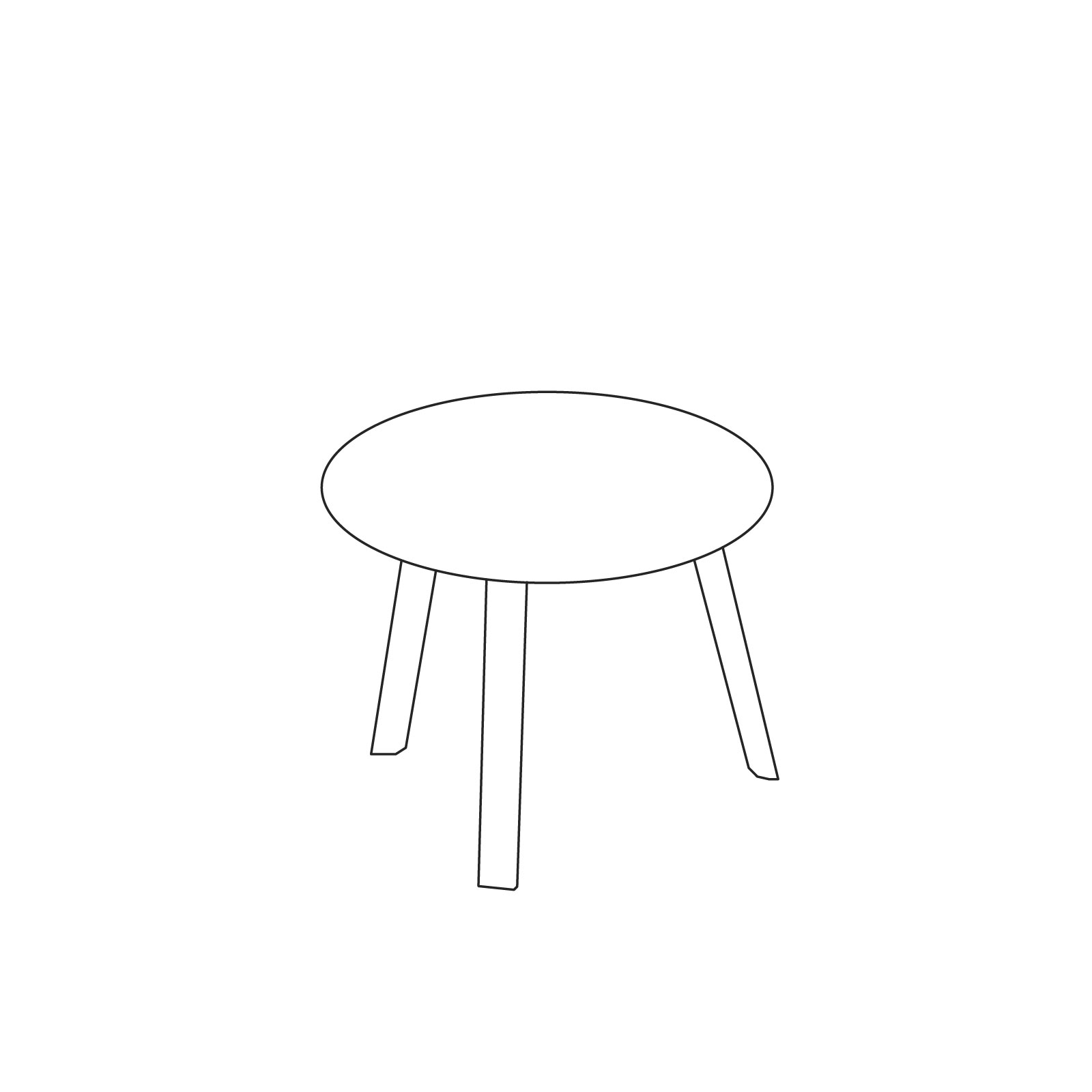 A line drawing of Bella Side Table–Low.