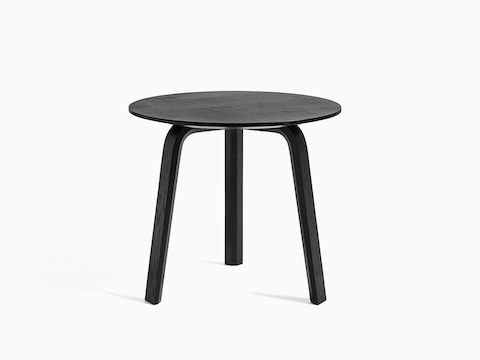 Black Bella Side Table, viewed from the front.