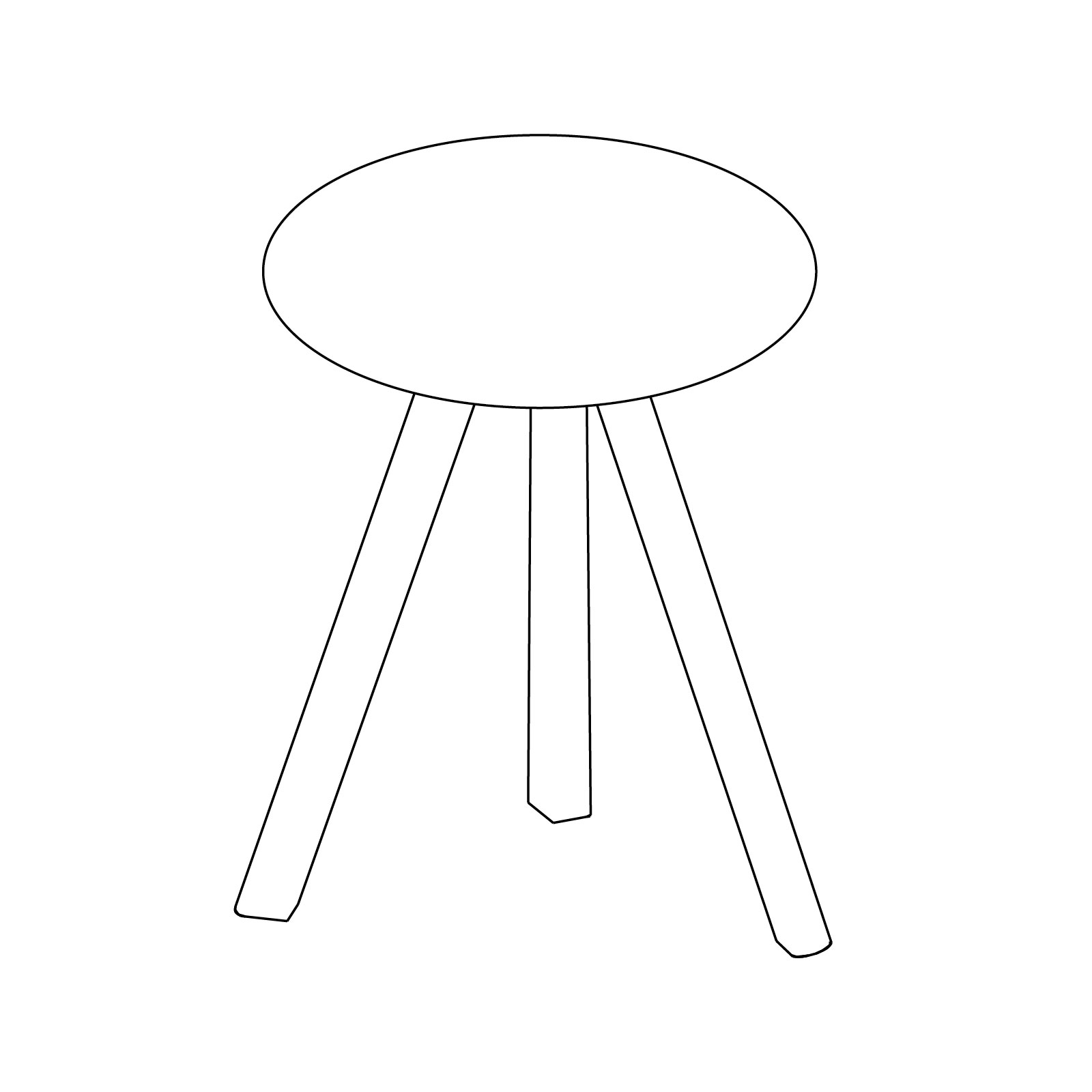 A line drawing of Copenhague Bistro Table–Round.