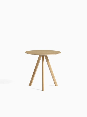Oak Copenhague Side Table, viewed from the front.