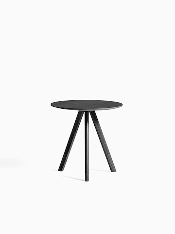 Black Copenhague Side Table, viewed from the front.