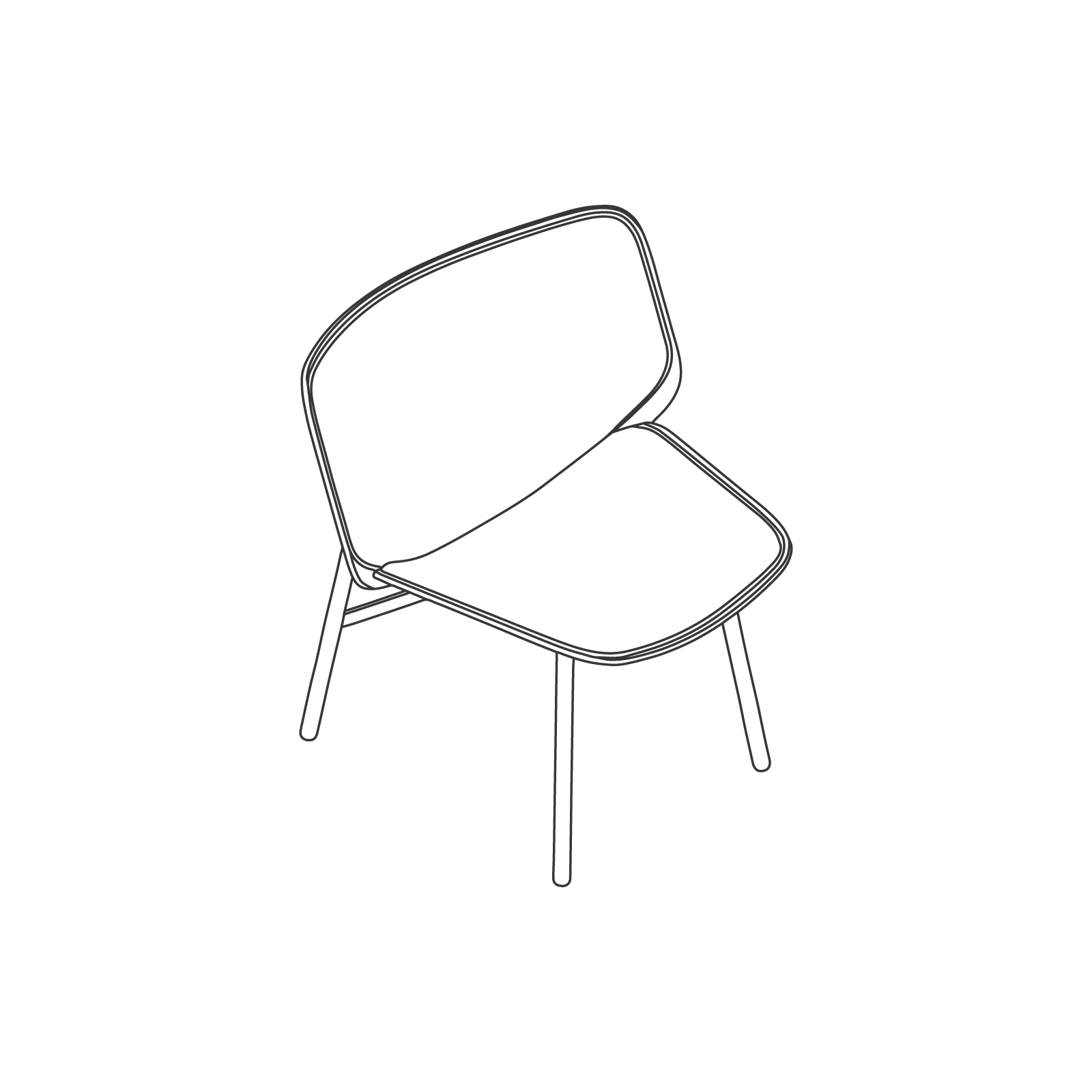 A line drawing - Dapper Lounge Chair.